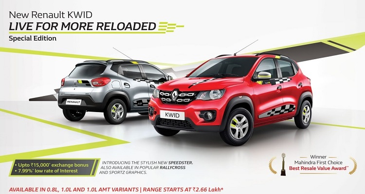 Renault KWID LIVE FOR MORE RELOADED Special Edition