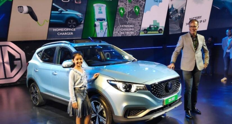 Electric SUV MG ZS Unveiled In India
