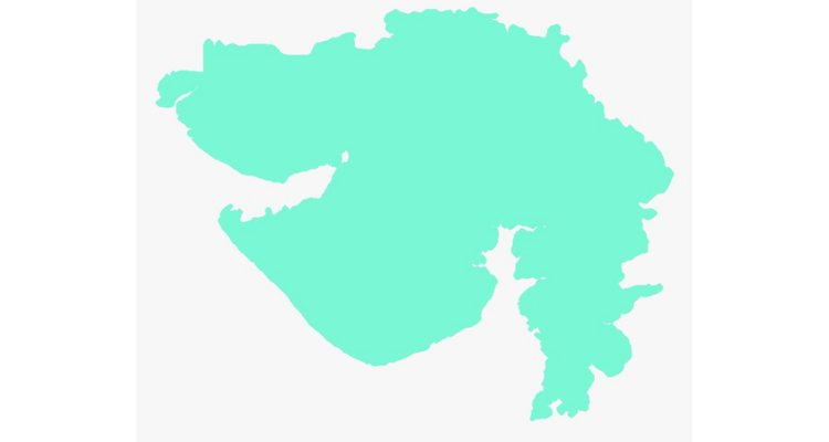 Pcture Of Gujrat Map Physical